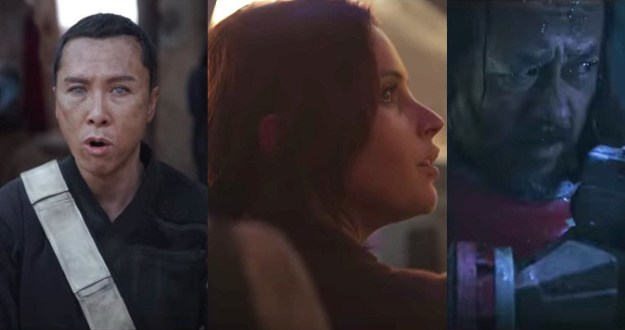 We see a little more of our heroes this time around, including Jyn (Felicity Jones).