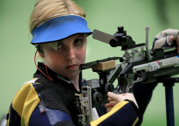I'll give you a hint — it has nothing to do with Virginia Thrasher, the American badass who took home the first gold medal of the Olympic games in Rio for the Woman's 10m Air Rifle.