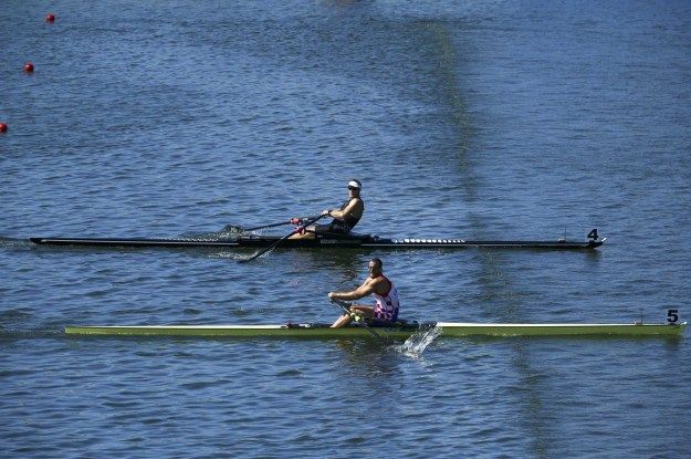 Both men finished in 6:41:34, which meant the winner would be decided by one thousandth (.001) of a second.