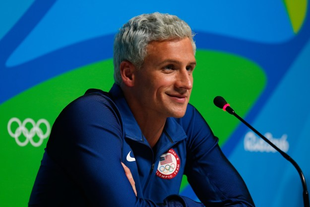 """Olympic swimmer Ryan Lochte's mother said her son and three teammates were robbed at gunpoint at a party in Brazil early on Sunday, but an Olympic official quickly told media this was """"not true."""""""
