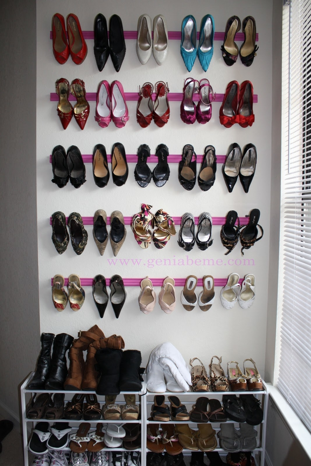 Use crown molding for your surplus of heels.