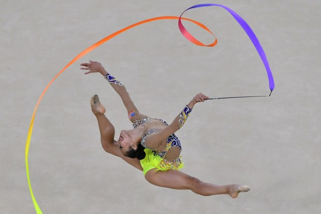 You might be thinking all the Olympic gymnastics events are over, but you are wrong. Rhythmic gymnastics is here, and it is GLORIOUS.