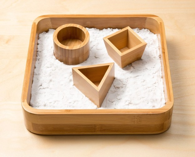 A bamboo sandbox tray to keep on your desk and play with whenever you get a bit bored.
