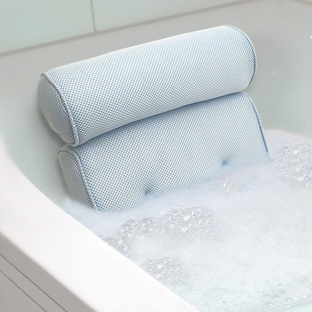 A pillow for people who like to spend a loooooooooong time soaking in the tub after a hard day.