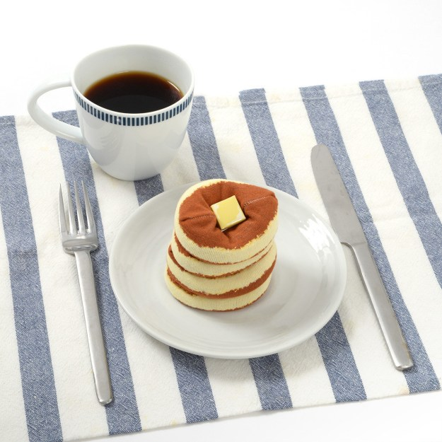 Look at these pancakes. Stare at this stack. Don't they look delicious? What a scrumdiddlyumptious treat.....