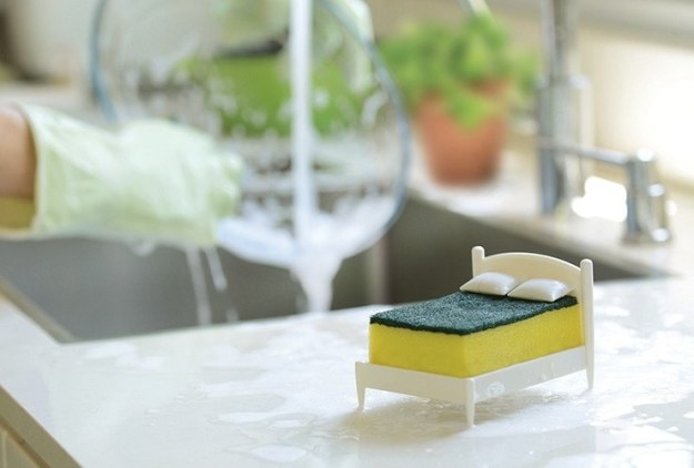Not only is it the cutest (and maybe only) sponge bed you've ever seen, it also has a purpose...