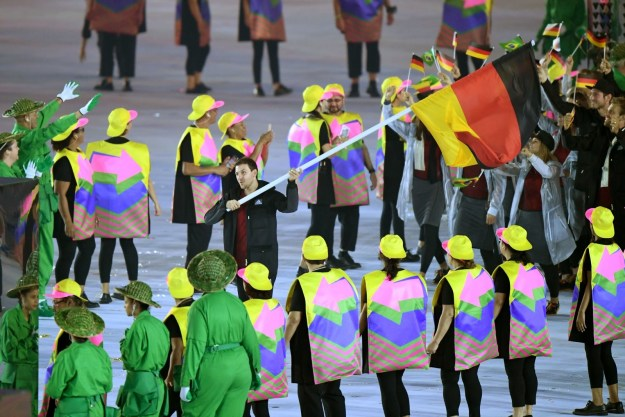 In case you were not paying attention during the Olympic opening ceremony, there were bunch of arrow people dancing and holding hands. Their job was making sure athletes were going the right way...