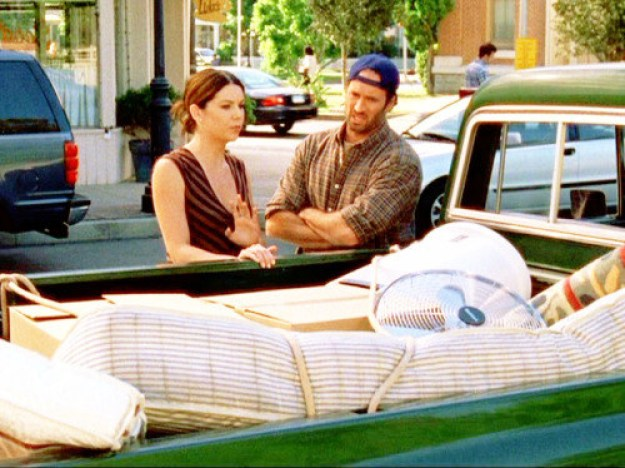 When he helped move Rory's mattress into her dorm, and out of her dorm and back into her dorm again.