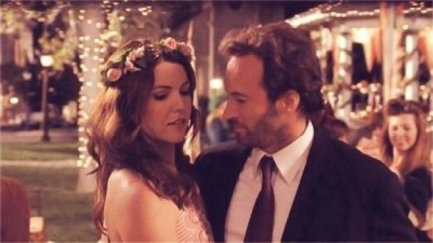 When they went to Liz and TJ's wedding together.