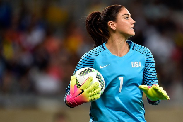 United States soccer's goalkeeper, Hope Solo, is having a bit of a rough time lately.