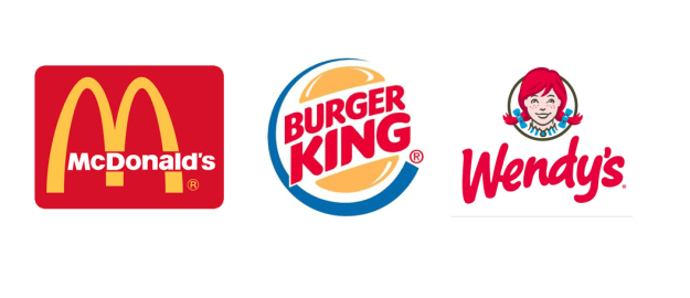 Round 1: McDonald's, Burger King, and Wendy's