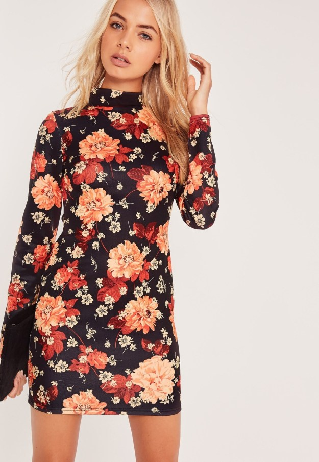 A mini dress with some serious flower power.