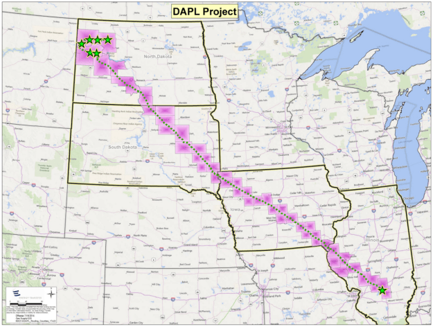 "When finished, the 30-inch underground pipes will stretch 1,172 miles and carry 470,000 barrels of crude oil per day. The US Geological Survey estimates there are 7.4 billion barrels of ""undiscovered, technically recoverable oil"" at the pipeline's starting point in North Dakota. So the idea is to get that oil out of the ground and to refineries and markets in other parts of the US."