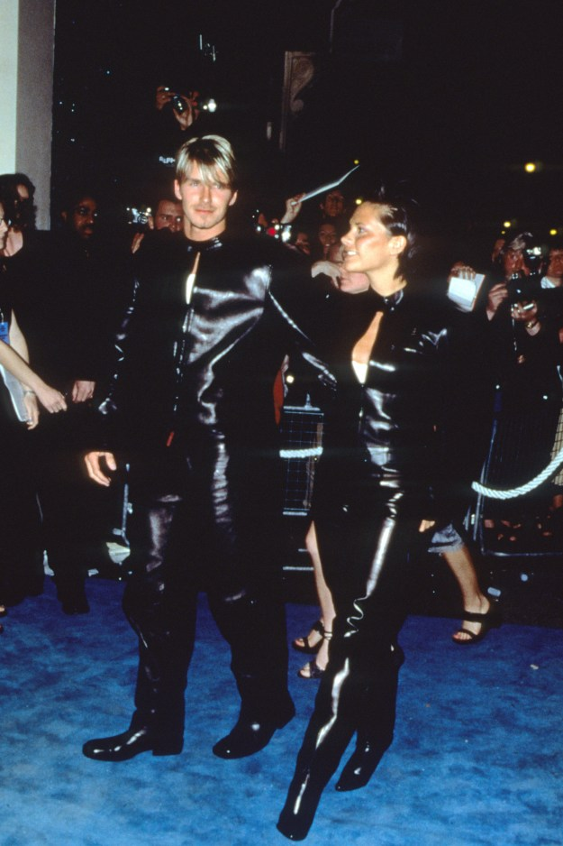 They've always liked a matching outfit, but they used to go for a much shinier look.