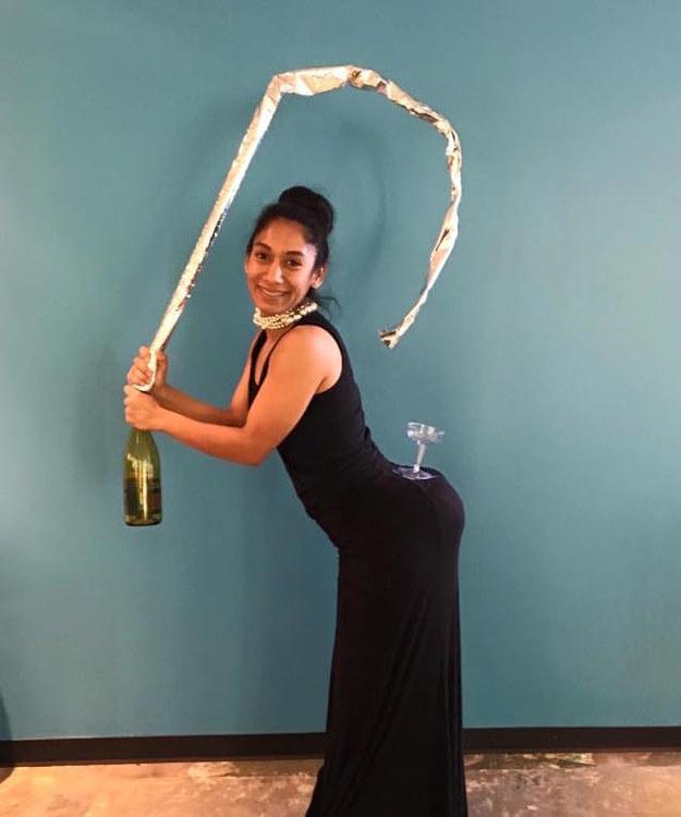 Kim Kardashian y champán