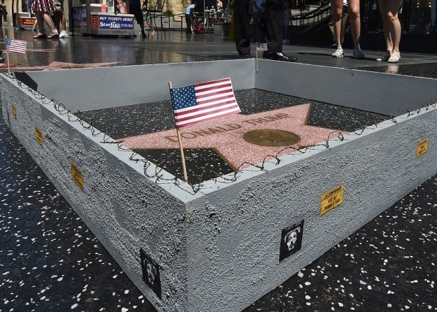 Trump's star has been messed with several times since he announced his presidential bid. In July, an LA artist built a barbed-wire wall around Trump's star to mock his plan of building a wall between the US and Mexico.