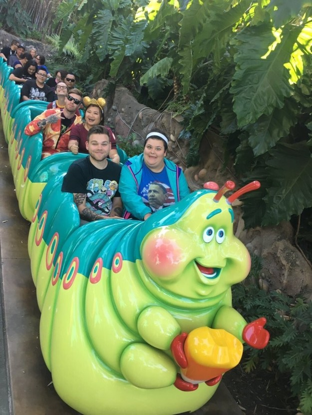 Sydelko told BuzzFeed News she went on her favorite ride, the Bug's Life-themed Heimlich Chew Chew Train, and posed for a standard photo.