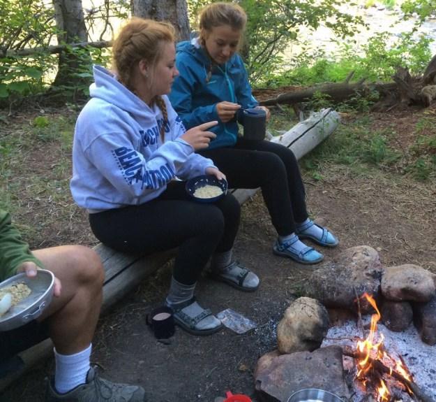 American teenagers enjoying the outdoors: