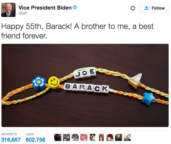 It's no secret that Joe Biden and his bracelet-making ways have always been pretty adorable.