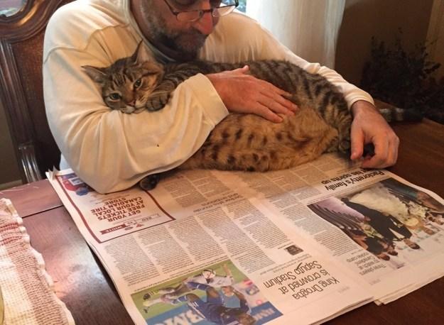 Ők tökéletesen elégedett, hogy kiad egy lusta délelőtt dédelgetés közben újságot olvasni.