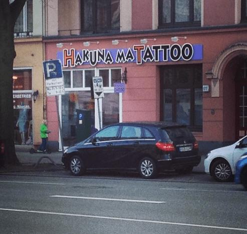 Tattoot doch nicht weh.