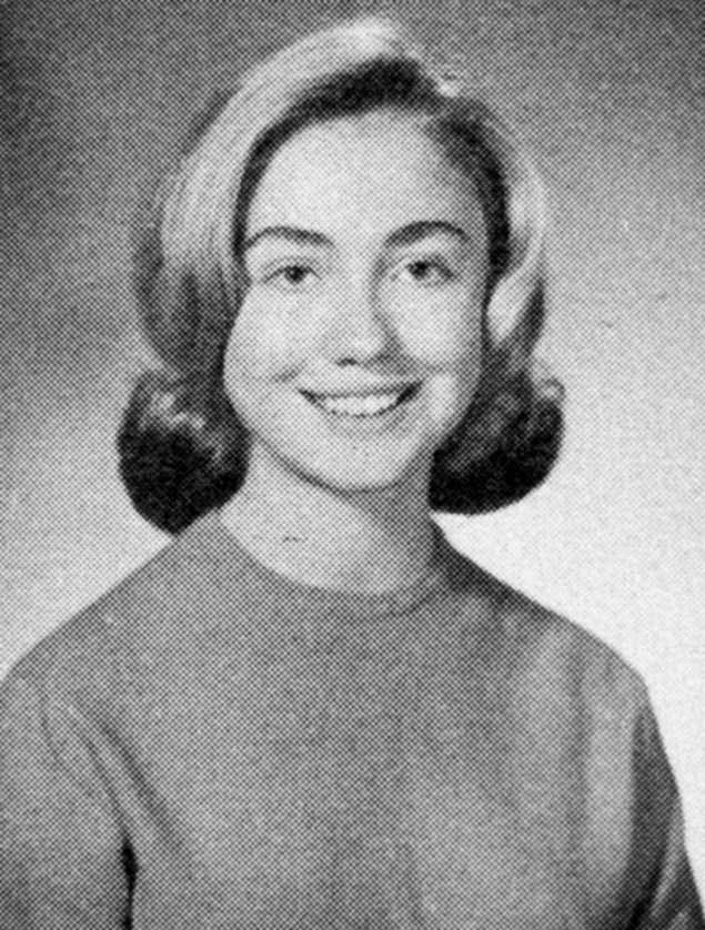 Hillary Clinton as a 17 year old in 1965.