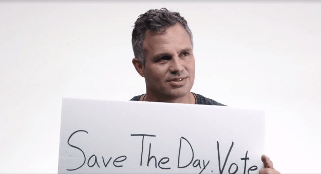 In September, Buffy the Vampire Slayer creator and Avengers director Joss Whedon launched a campaign called Save the Day, encouraging people to vote in the 2016 presidential election.