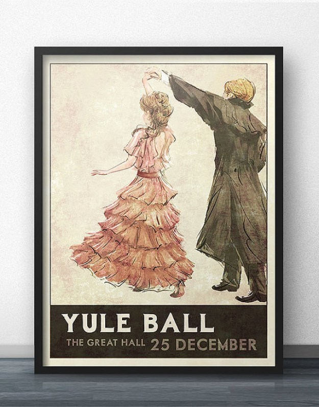 A Yule Ball poster that depicts the greatest love story ever told.