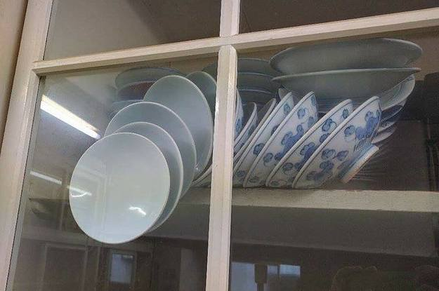 The Viral Photo Of Bowls Trapped In A Cupboard Was Actually Taken
