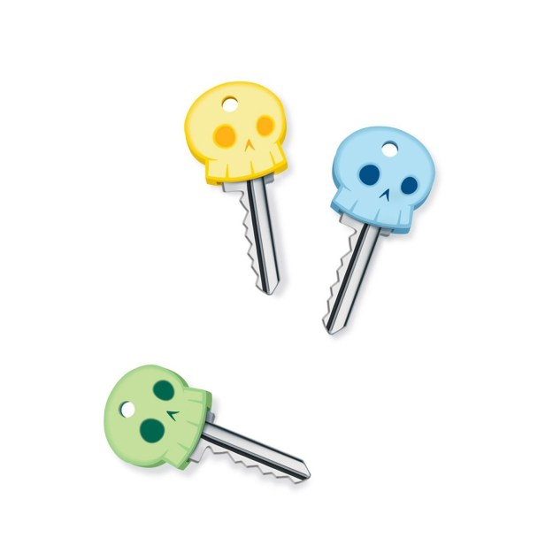 Know where your keys are right now? If the answer's no, these glow-in-the-dark skeleton key covers are for you.