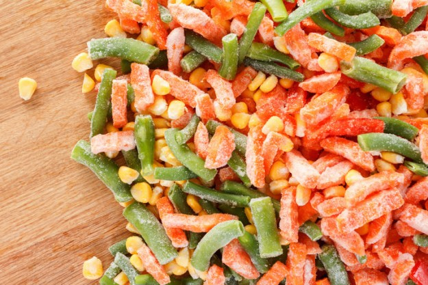 Stock up on frozen veggies and add them to everything.
