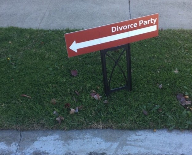 ...but for a divorce.