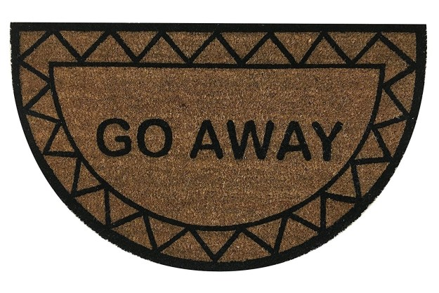 This doormat will ensure that everyone gets the message when you're trying to stay in and study.
