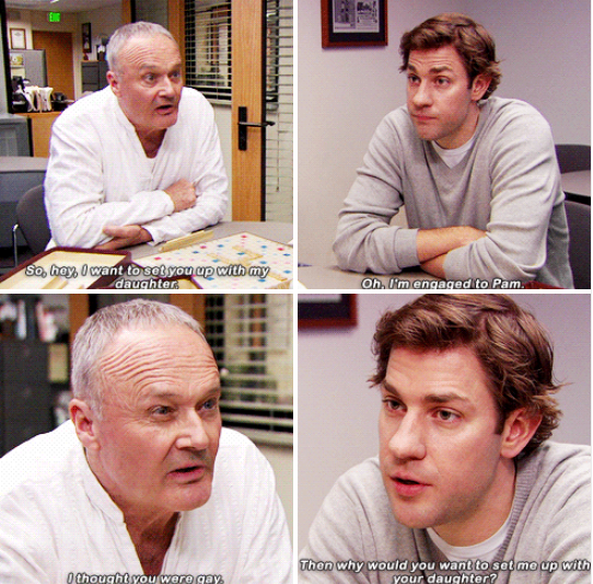 When Creed tried to get Jim to go out with his daughter: