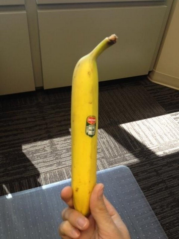 This banana that's a little too straight: