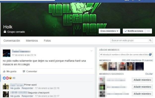 Legión Holk no es una secta ni una organización terrorista, es sólo una comunidad de Facebook.
