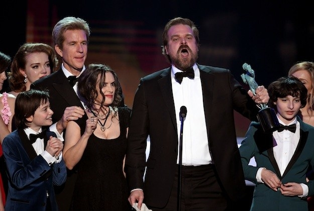 """And when Stranger Things star David Harbour gave a passionate speech, saying, """"We will, as per Chief Jim Hopper, punch some people in the face when they seek to destroy the the weak and the disenfranchised and the marginalized."""""""