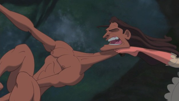 When Tarzan's neck was made of putty.