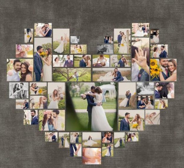 A tu pareja le encantará este ~marco~ de fotos en forma de corazón.