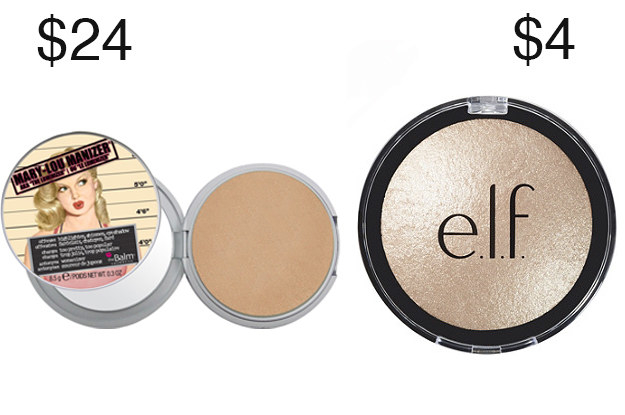 Você honestamente não pode dizer a diferença entre o Elf Moonlight Pearls e The Balm Mary-Lou Manizer destaques.