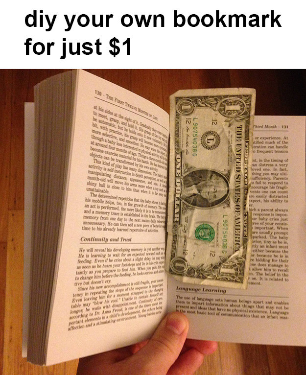 No need to buy bookmarks from stores!