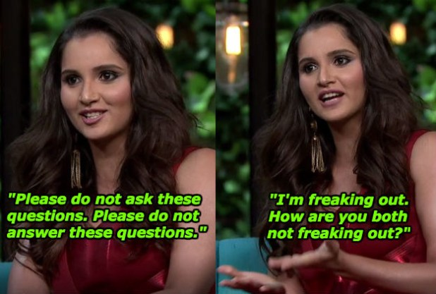 And when Sania was briefly worried about the scandalous content of the show.