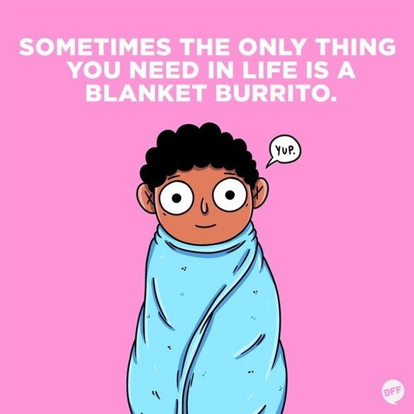 """""""This might sound weird but having a big fluffy blanket, like a down comforter, is so helpful. It helps cushion my joints when I can't lay regularly, especially my arms. It's also provides a good cozy feeling that helps me emotionally, too. When I'm having a really bad flare up, sometimes I just need some extra time in bed and it helps to be comfortable. Sometimes that extra hour or two of sleep makes a huge difference with a flare up.""""—bree-nb"""