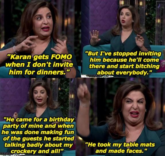 When Farah Khan had some qualms with Karan.