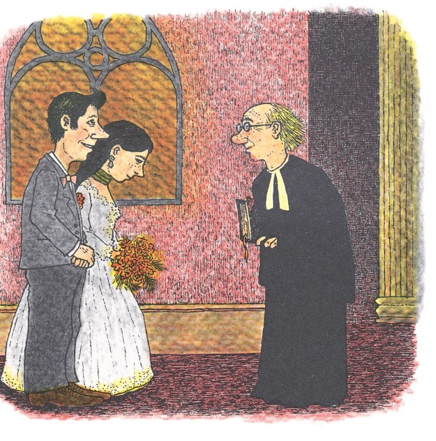 "But Jenny never told Alfred; she was like, ""You've gotta wait to find out!"" But Alfred kept asking and asking. She even wore the green ribbon around her neck when they got MARRIED, and still didn't tell him why!"
