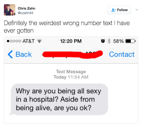 This person who got texted the strangest compliment: