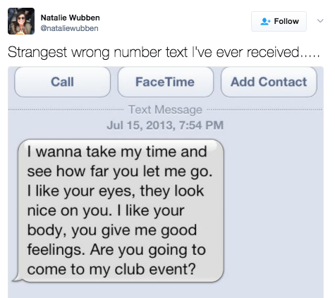 This person who got a text from a poet who just wants someone to go to their club event: