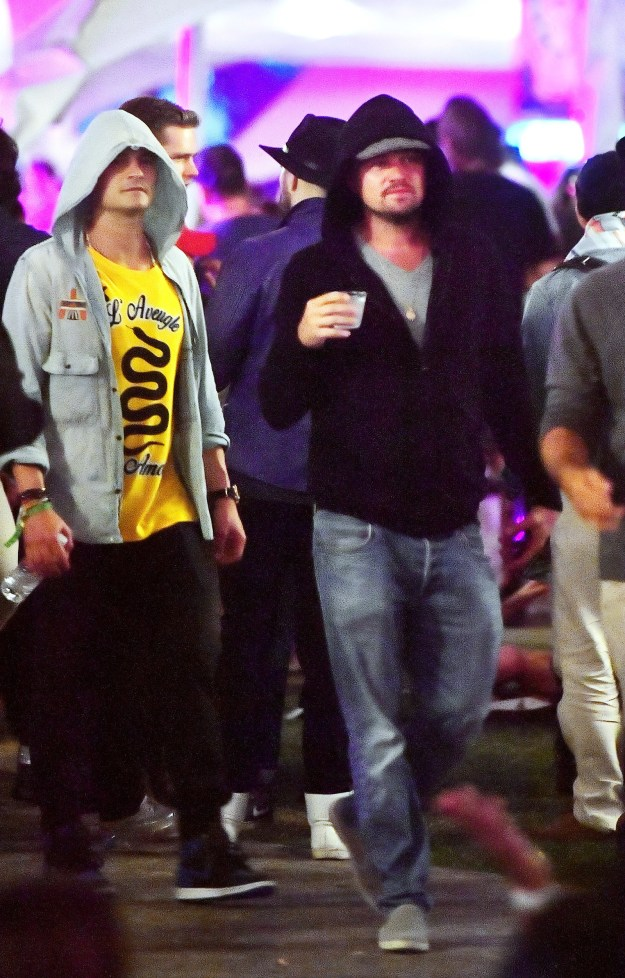 But this year, we have been given Leonardo DiCaprio hanging out with Orlando Bloom at Coachella.