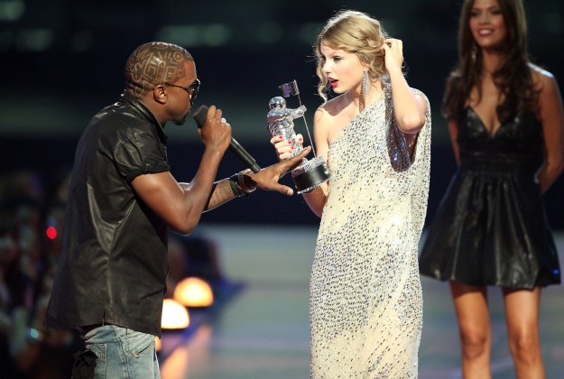 And when Kanye West infamously invaded Taylor Swift's acceptance speech: