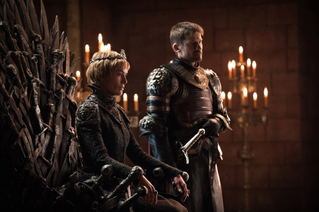 We see Cersei and Jaimie reunited, right after she destroyed the Sept of Baelor.